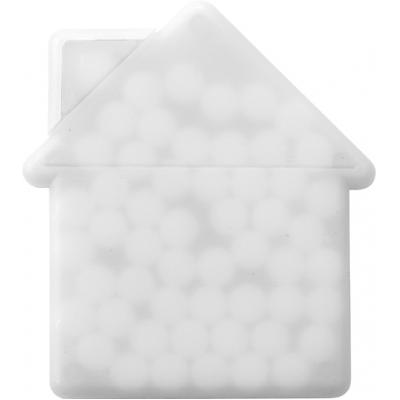 Image of Promotional house shaped mint card.
