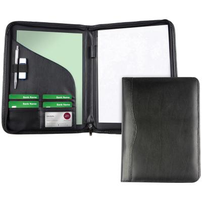 Image of Promotional Leather A4 Zipped Folder